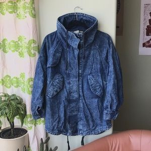 Jackets & Blazers - Cool baggy acid wash denim jacket